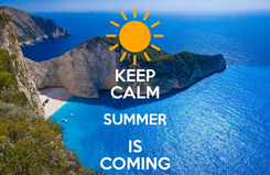 Poster: KEEP CALM SUMMER IS COMING