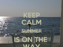 Poster: KEEP CALM SUMMER IS ON THE  WAY