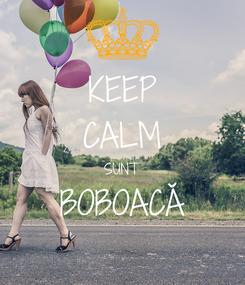 Poster: KEEP CALM SUNT BOBOACĂ