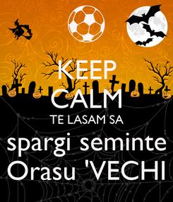 Poster: KEEP CALM TE LASAM SA spargi seminte Orasu 'VECHI