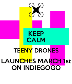 Poster: KEEP CALM TEENY DRONES LAUNCHES MARCH 1st ON INDIEGOGO