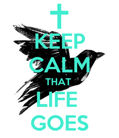 Poster: KEEP CALM THAT  LIFE  GOES