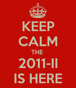 Poster: KEEP CALM THE  2011-II IS HERE
