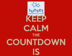 Poster: KEEP CALM THE COUNTDOWN IS