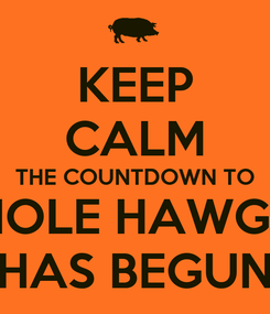 Poster: KEEP CALM THE COUNTDOWN TO HOLE HAWGS HAS BEGUN
