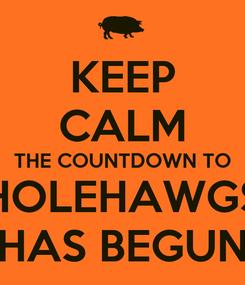 Poster: KEEP CALM THE COUNTDOWN TO HOLEHAWGS HAS BEGUN