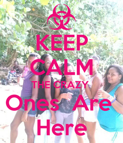 Poster: KEEP CALM THE CRAZY  Ones  Are  Here
