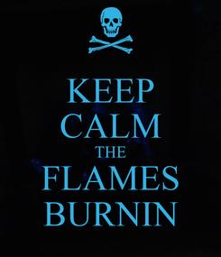 Poster: KEEP CALM THE FLAMES BURNIN