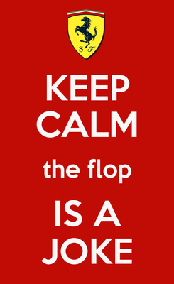Poster: KEEP CALM the flop IS A JOKE