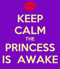 Poster: KEEP CALM THE PRINCESS IS  AWAKE