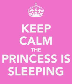 Poster: KEEP CALM THE PRINCESS IS SLEEPING