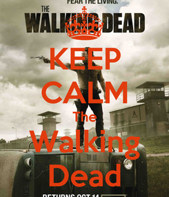 Poster: KEEP CALM The Walking Dead