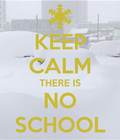 Poster: KEEP CALM THERE IS NO SCHOOL
