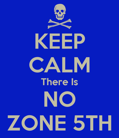 Poster: KEEP CALM There Is NO ZONE 5TH