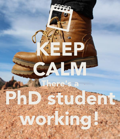 Poster: KEEP CALM There's a PhD student working!