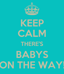 Poster: KEEP CALM THERE'S BABYS ON THE WAY!