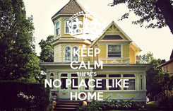 Poster: KEEP CALM THERE'S NO PLACE LIKE HOME