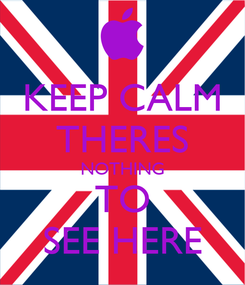 Poster: KEEP CALM THERES NOTHING TO SEE HERE