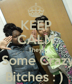 Poster: KEEP CALM They   Some Crazy Bitches : )
