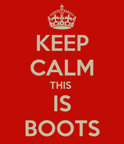 Poster: KEEP CALM THIS  IS BOOTS