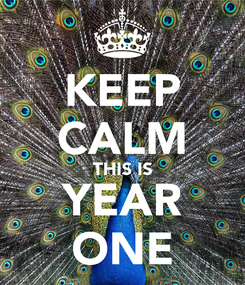 Poster: KEEP CALM THIS IS YEAR ONE