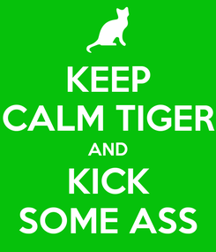 Poster: KEEP CALM TIGER AND KICK SOME ASS