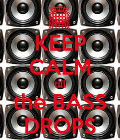 Poster: KEEP CALM till the BASS DROPS