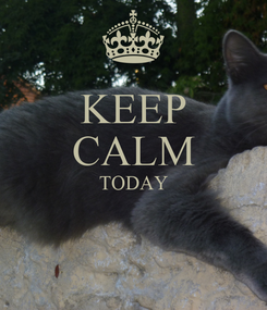 Poster: KEEP CALM TODAY