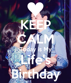 Poster: KEEP CALM Today is My Life's Birthday
