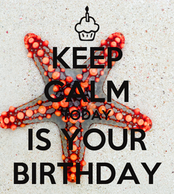 Poster: KEEP CALM TODAY  IS YOUR  BIRTHDAY