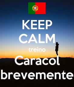 Poster: KEEP CALM treino Caracol brevemente