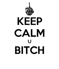 Poster: KEEP CALM U BITCH