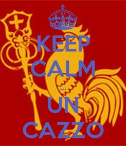 Poster: KEEP CALM ... UN CAZZO