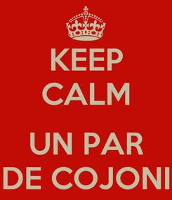 Poster: KEEP CALM   UN PAR DE COJONI