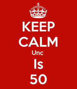 Poster: KEEP CALM Unc  Is 50