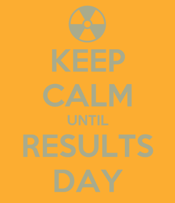Poster: KEEP CALM UNTIL RESULTS DAY