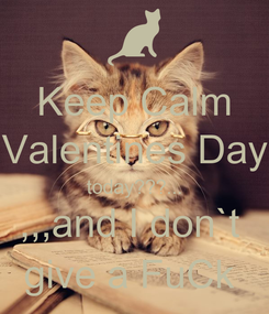 Poster: Keep Calm Valentines Day today???... ,,,and I don`t  give a FuCk