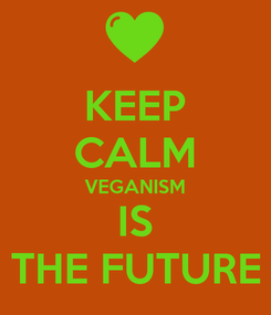 Poster: KEEP CALM VEGANISM IS THE FUTURE