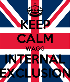 Poster: KEEP CALM WAGG INTERNAL EXCLUSION