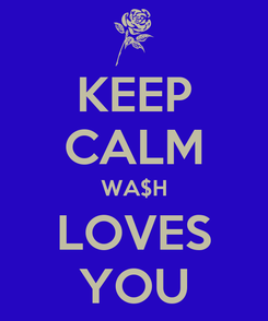 Poster: KEEP CALM WA$H LOVES YOU