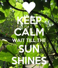 Poster: KEEP CALM WAIT TILL THE SUN SHINES