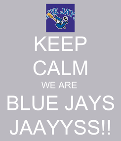 Poster: KEEP CALM WE ARE  BLUE JAYS JAAYYSS!!