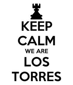 Poster: KEEP CALM WE ARE LOS TORRES