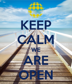Poster: KEEP CALM WE ARE OPEN