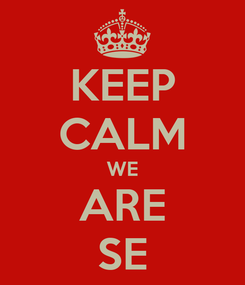Poster: KEEP CALM WE ARE SE