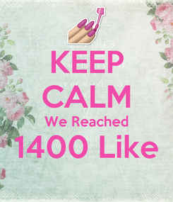 Poster: KEEP CALM We Reached 1400 Like