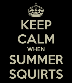 Poster: KEEP CALM WHEN SUMMER SQUIRTS