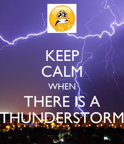 Poster: KEEP CALM WHEN THERE IS A THUNDERSTORM