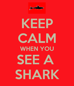 Poster: KEEP CALM WHEN YOU SEE A  SHARK