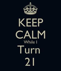 Poster: KEEP CALM While I Turn  21
